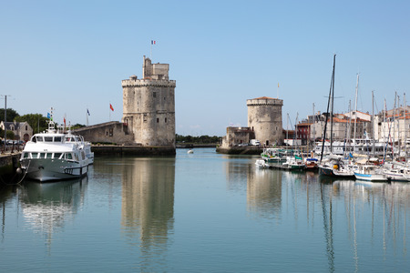 Entrance to the old port of La Rochelle, Charente Maritime, France