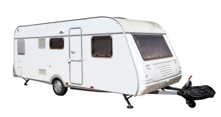 Caravan isolated over white background photo