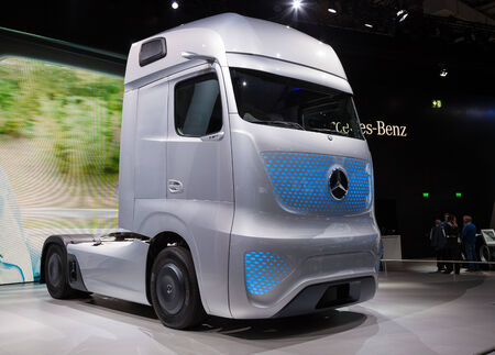 iaa: Mercedes Benz Future Truck FT 2025 at the 65th IAA Commercial Vehicles 2014 in Hannover, Germany Editorial