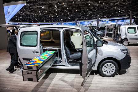 daimler: Mercedes Benz Citan 111 CDI at the 65th IAA Commercial Vehicles 2014 in Hannover, Germany Editorial