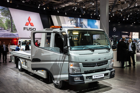 iaa: New Mitsubishi Fuso Canter at the 65th IAA Commercial Vehicles 2014 in Hannover, Germany