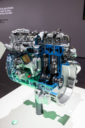 iaa: New Mitsubishi Common Rail Diesel Engine at the 65th IAA Commercial Vehicles 2014 in Hannover, Germany
