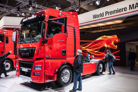 iaa: MAN truck TGX 18.560 at the 65th IAA Commercial Vehicles 2014 in Hannover, Germany