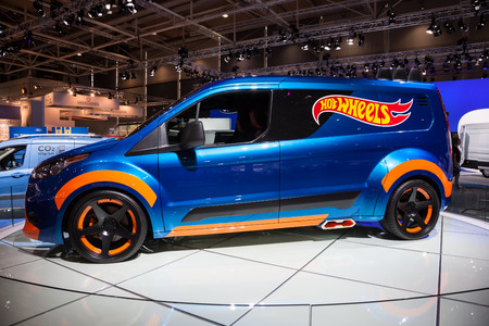 iaa: Ford Transit Hot Wheels Concept at the 65th IAA Commercial Vehicles 2014 in Hannover, Germany