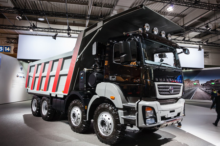 iaa: BharatBenz 3143 CM Daimler India Truck at the 65th IAA Commercial Vehicles fair 2014 in Hannover, Germany