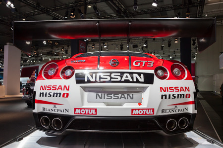 iaa: NISSAN GT3 Nismo Race Car at the 65th IAA Commercial Vehicles Fair 2014 in Hannover Editorial