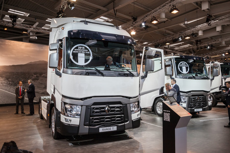 iaa: RENAULT RANGE T truck at the 65th IAA Commercial Vehicles Fair 2014 in Hannover, Germany
