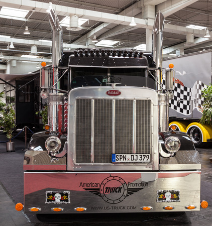 iaa: Peterbilt show truck at the 65th IAA Commercial Vehicles Fair 2014 in Hannover, Germany Editorial