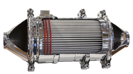 Cross section of a catalytic converter and particle filter of a diesel engine Reklamní fotografie - 32360972
