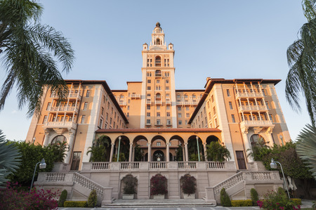 gables: CORAL GABLES, FL USA - NOV 15, 2009: The historic and luxurious Biltmore Hotel which was built in 1925 located in Coral Gables, Florida USA