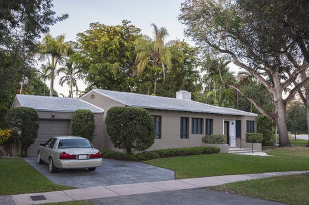 gables: Residential house in Coral Gables, Florida, USA Editorial