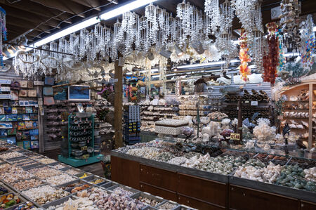Shells and souvenirs shop in Key West, Florida, USA Editorial
