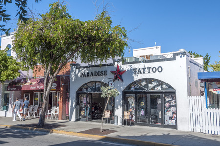Tattoo parlor in Key West, Florida, USA Editorial