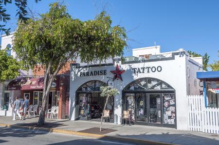 Tattoo parlor in Key West, Florida, USA Publikacyjne
