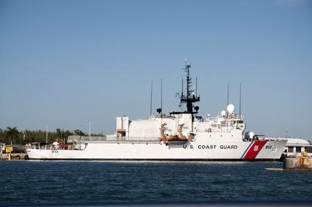 coast guard: US Coast Guard ship in Key West, Florida