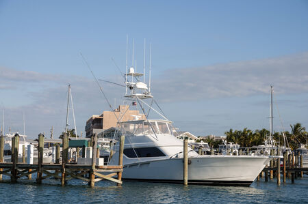 big game fishing: Big Game fishing boat in Key West, Florida Stock Photo
