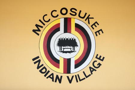 Miccosukee Indian Village in Florida, USA