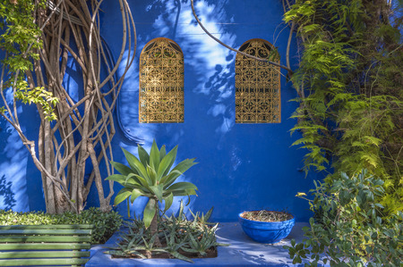 마라케시, 모로코의 Majorelle 정원