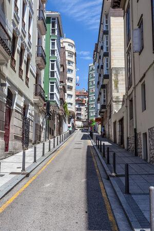 santander: Street in the city of Santander, Cantabria, Spain