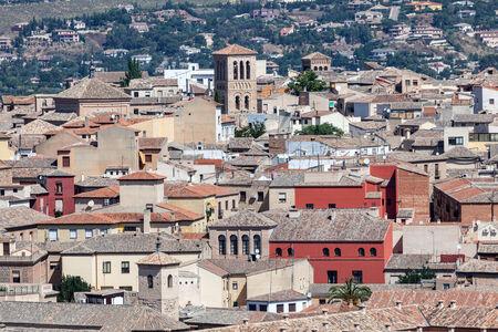 toledo town: View over the old town of Toledo, Castilla la Mancha, Spain