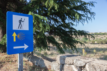 Camino de Santiago road sign in Spain photo