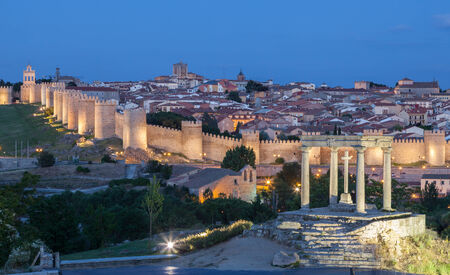 View of the medieval city of Avila, Castile and Leon, Spain