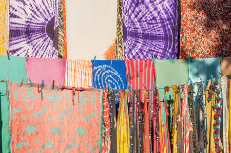 artisanry: Colorful fabrics in Morocco, Africa