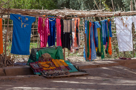 roadside stand: Market stand at roadside in Morocco, Africa