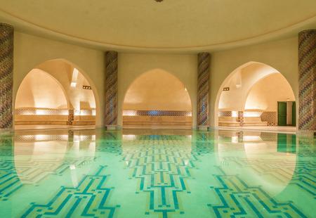 전통적인 모로코 목욕 - 공중 목욕탕의 내부