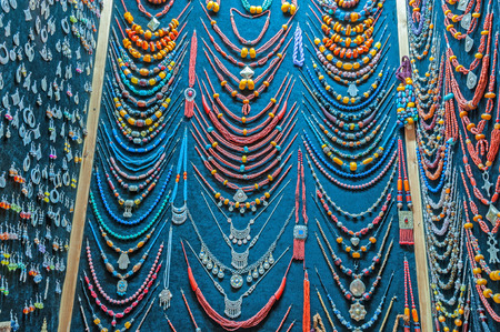 artisanry: Jewelry and souvenir shop in Essaouira, Morocco, Africa Stock Photo