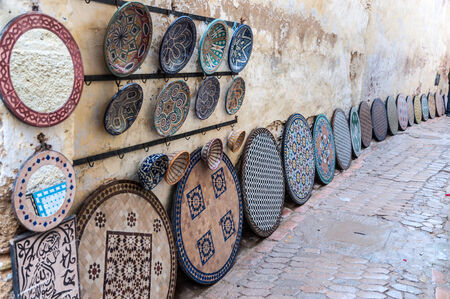 artisanry: Pottery and souvenirs market in the medina of Fez, Morocco, Africa