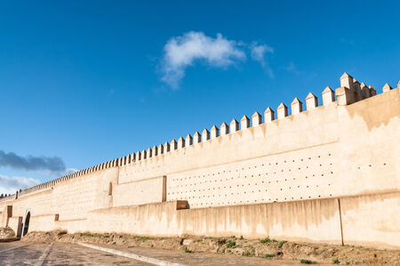 fortify: Ancient fortified wall in the city of Fez, Morocco, Africa Editorial