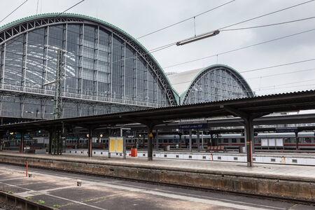frankfurt: FRANKFURT - DEC 6: Main Train Station in Frankfurt Main. December 6, 2014 in Frankfurt, Germany