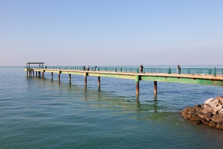 souq: Souq Sharq Pier at the Arabian Gulf coast in Kuwait. December 7, 2014 in Kuwait, Middle East