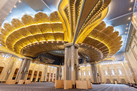 kuwait: Main prayer hall inside of the Grand Mosque in Kuwait City, Middle East