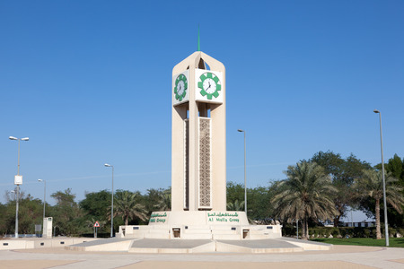 gcc: Clock tower outside of the Kuwait International Airport. December 12, 2014 in Kuwait City, Middle East Editorial
