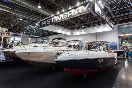 water sports: boot Duesseldorf 2015 - the worlds biggest yachting and water sports exhibition. January 25, 2015 in Duesseldorf, Germany