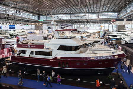 boot Duesseldorf 2015 - the worlds biggest yachting and water sports exhibition. January 25, 2015 in Duesseldorf, Germany