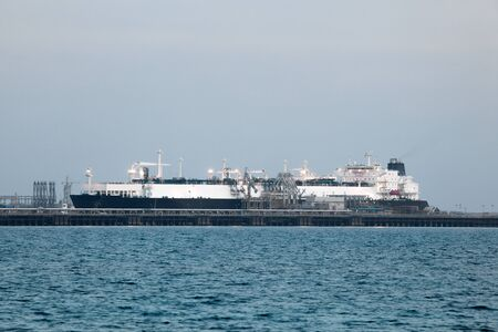 tanker ship: Tanker ship in the port of Kuwait, Middle East