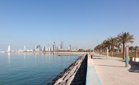middle east: Waterfront promenade in Kuwait City, Middle East