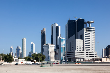 gcc: High-rise buildings downtown in Kuwait City, Middle East