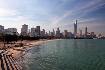 gcc: Skyline of Kuwait City. Middle East, Arabia Editorial