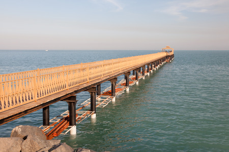 middle east: Pier in Kuwait City, Middle East Stock Photo