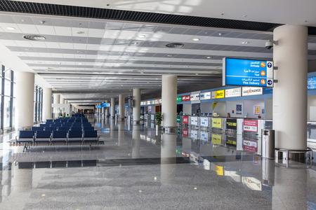 gcc: DUBAI, UAE - DEC 13: Interior of the Al Maktoum International Airport in Dubai. December 13, 2014 in Dubai, United Arab Emirates