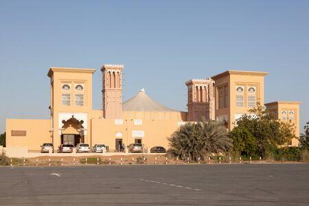 falconry: DUBAI, UAE - DEC 13: Dubai Falconry Center, Nad Al Sheeba. December 13, 2014 in Dubai, United Arab Emirates