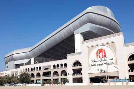 emirates: DUBAI, UAE - DEC 13: Mall of the Emirates with Ski Dubai. December 13, 2014 in Dubai, United Arab Emirates