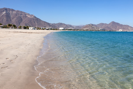 Beach in Khor Fakkan, Fujairah, United Arab Emirates Stock Photo - 36150061