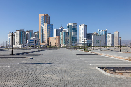 Buildings in the city of Fujairah, United Arab Emirates 版權商用圖片