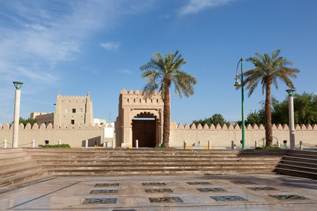 united arab emirate: Square in the city of Al Ain, Emirate of Abu Dhabi, United Arab Emirates