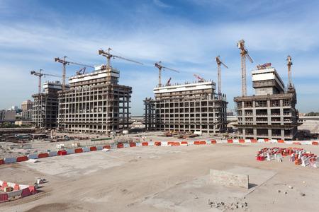 Baustelle in Dubai, Vereinigte Arabische Emirate
